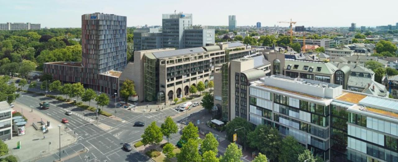 Die Gebäude der KfW am Standort Frankfurt am Main