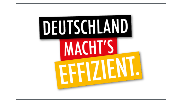 Logo in German, Bundesministerium, Deutschland macht`s effizient (Germany makes it efficient)
