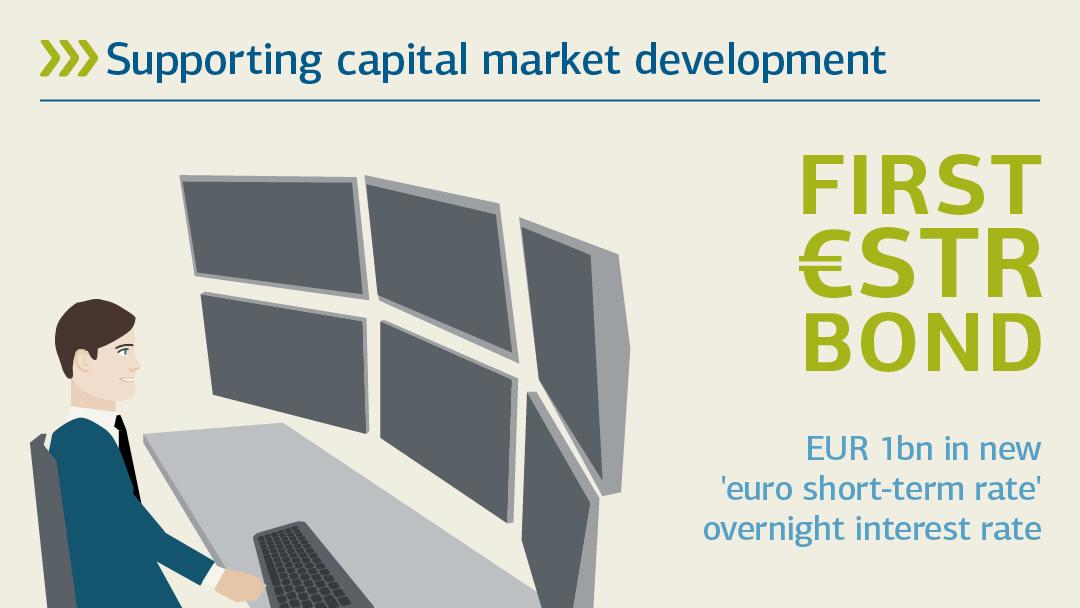Illustration zu erste ESTR Anleihe: Kapitalmarktentwicklung unterstützen