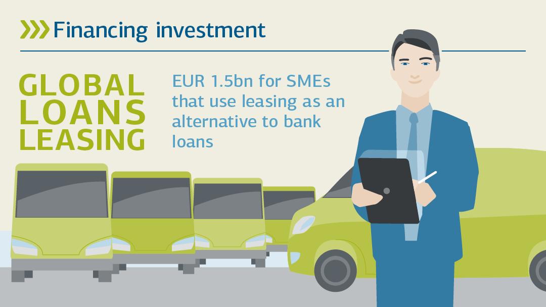 Illustartion zu global Darlehen Leasing: Investitionen finanzieren