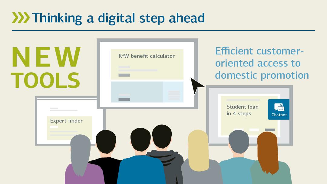 Illustration zu neue Tools: Förderung digital weiterdenken