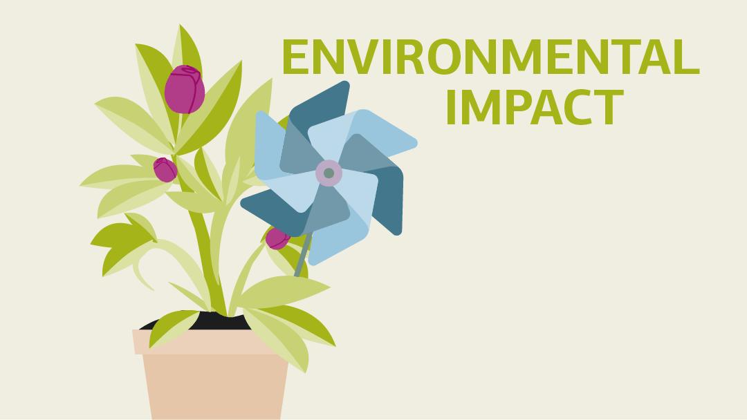 Illustration regarding the topic environmental impact