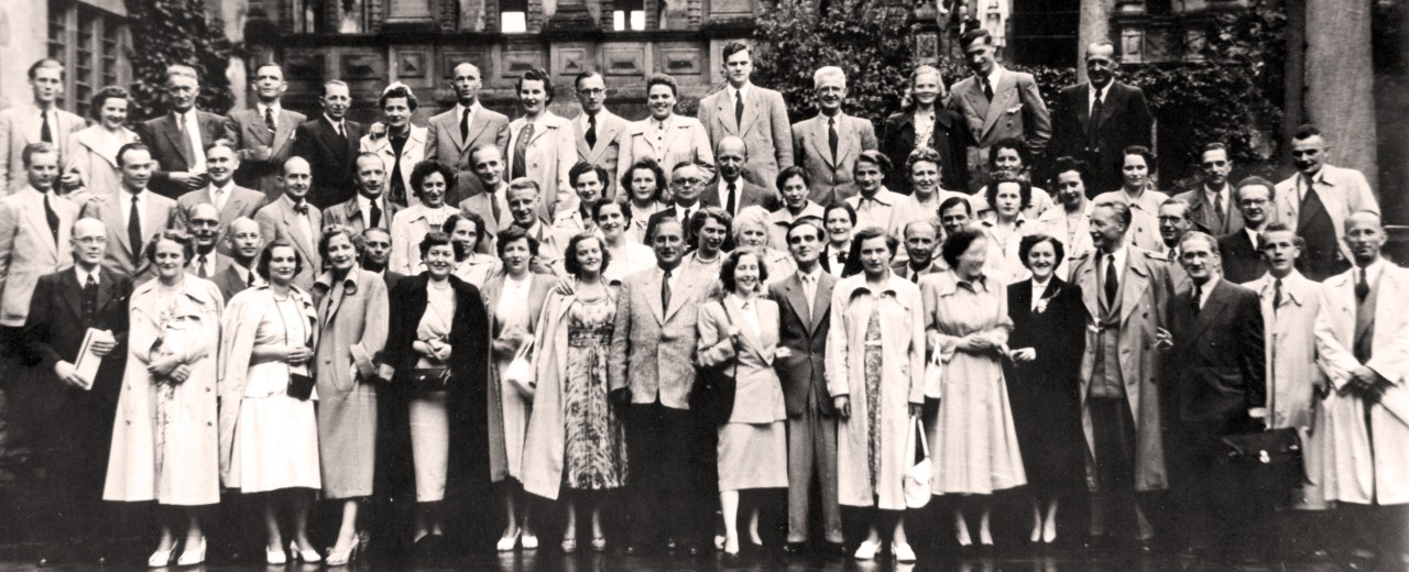 Employees of KfW in 1949