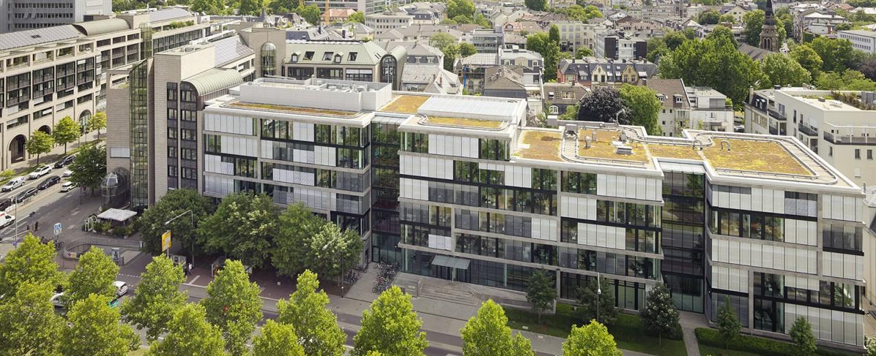 Die 'Senckenberganlage' der KfW Bankengruppe in Frankfurt am Main