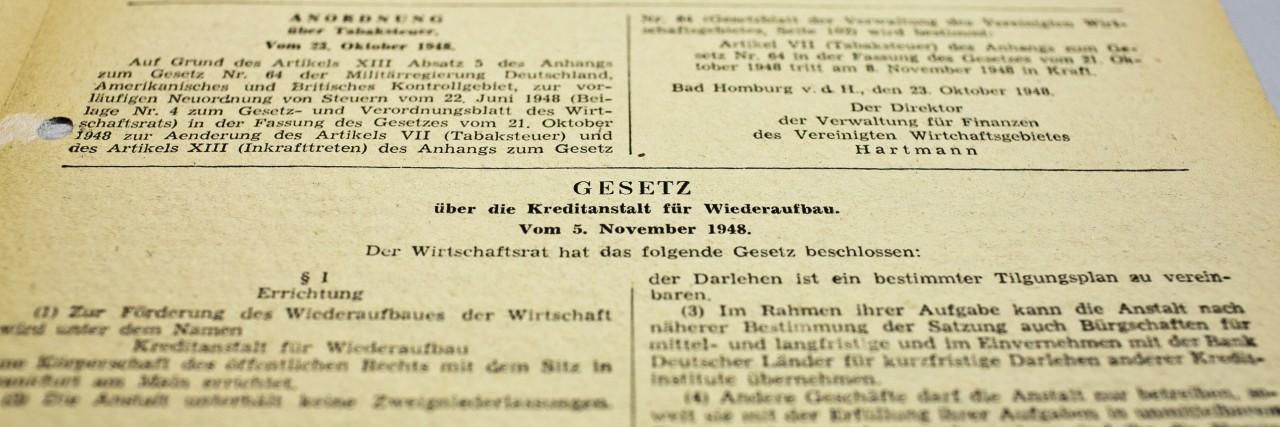 70 Jahre KfW-Gesetz