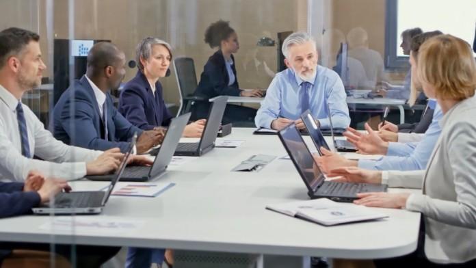 Meeting of workers