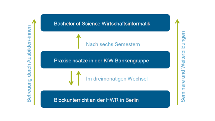 Grafik Duales Studium BA of Science in Wirtschaftsinformatik