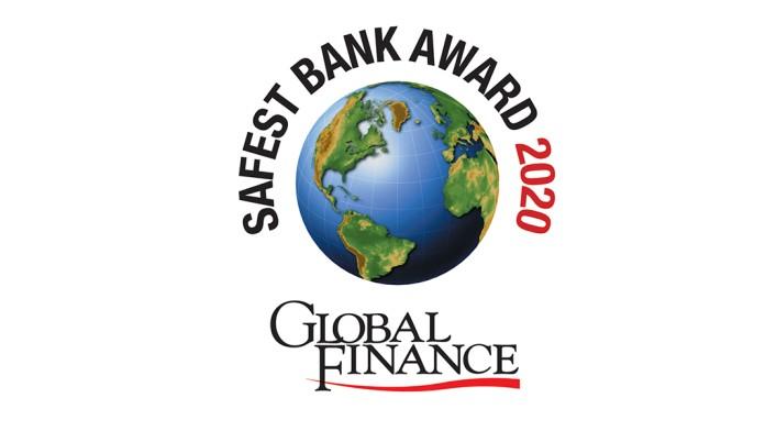 Logo der Globae Finance Worlds Safest Bank 2020
