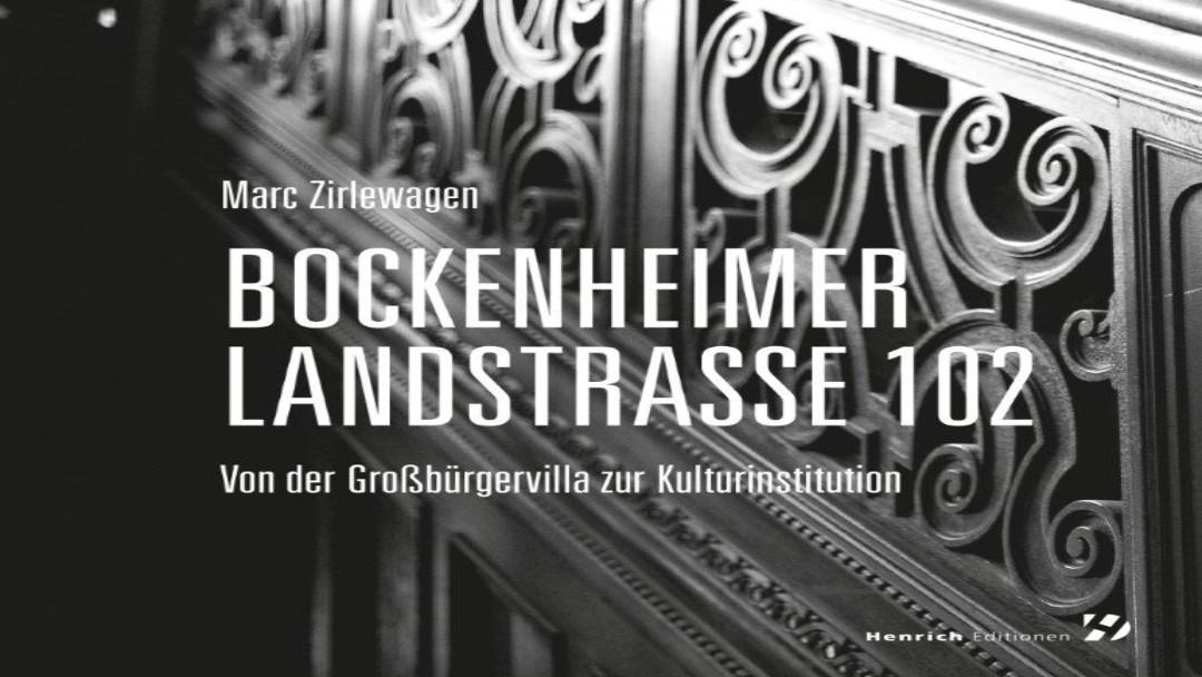 """Buch und Hörbuch: """"Bockenheimer Landstraße 102 in Frankfurt am Main – Von der Großbürgervilla zur Kulturinstitution"""" v. Marc Zirlewagen (Quelle: KfW / Fotograf: Jens Steingässer)"""
