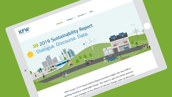 Graph with KfW Sustainability Report 2019
