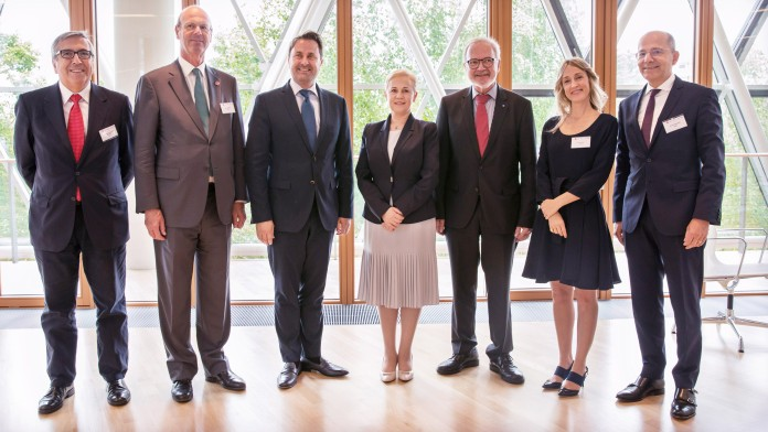 meeting of the 5 presidents with Luxembourgish Prime Minister, Xavier Bettel and EIB president, Werner Hoyer EIB Kreislaufwirtschaft