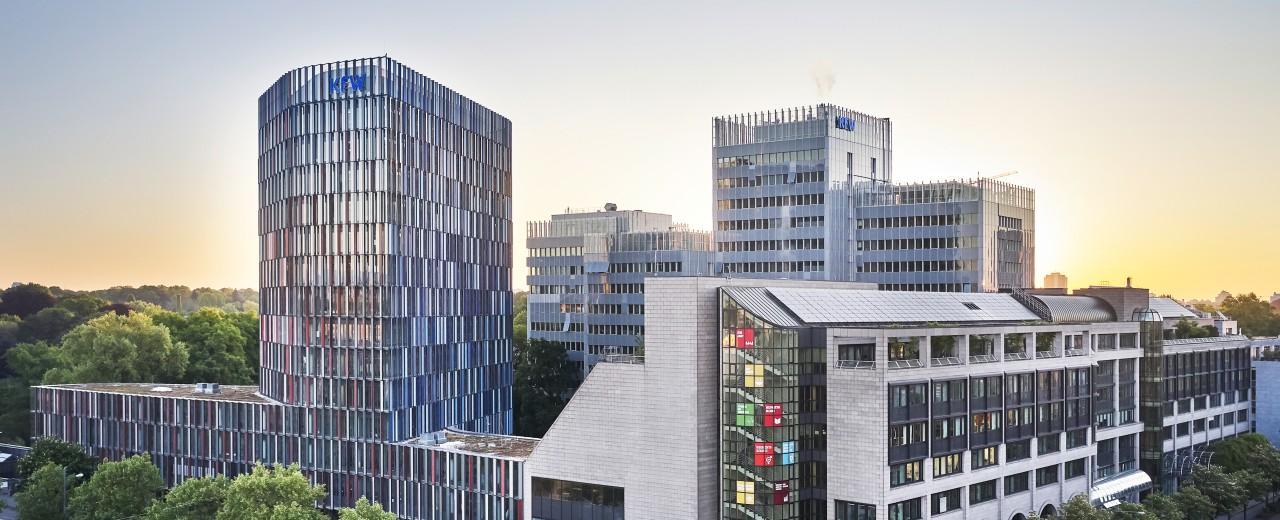 Zentrale der KfW in Frankfurt