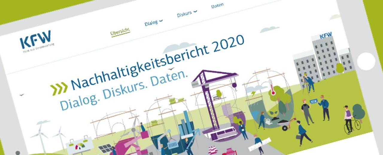 Titelbild des KfW-Nachhaltigkeitsberichts 2020