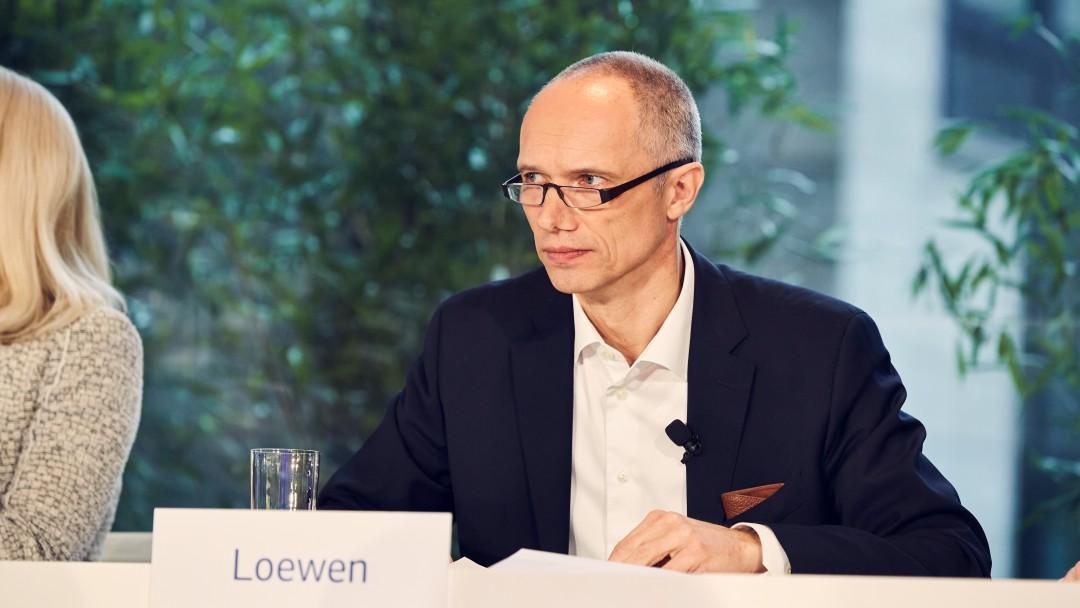 Bernd Loewen während der Jahresauftaktpressekonferenz 2020