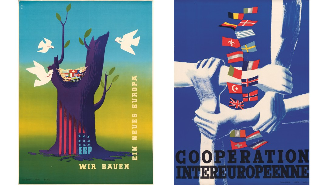 Plakate zum Marshall-Plan