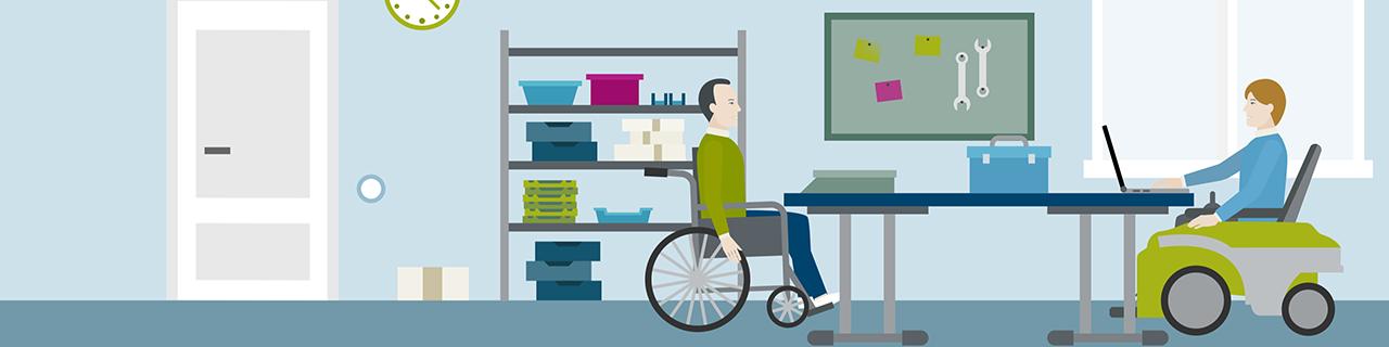 Einblick in die Arbeitssituation in einer Einrichtung für behinderte Menschen