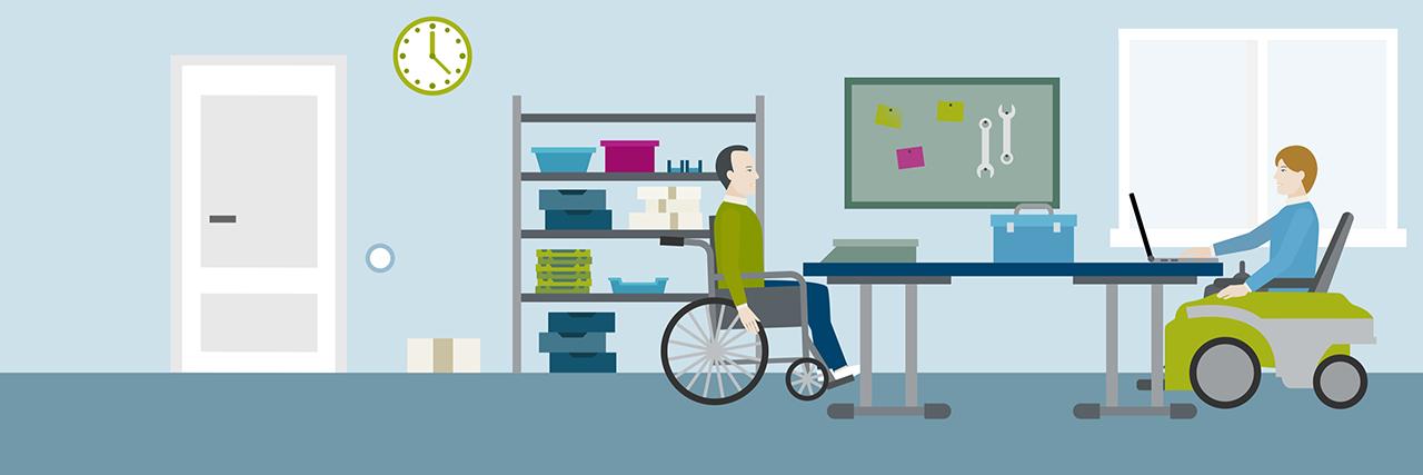 Einblick in die Arbeitssituation einer Einrichtung für behinderte Menschen