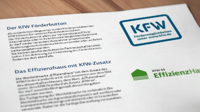 Dokument mit verschiedenen KFW-Logos