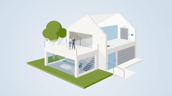 Einfamilienhaus mit Vorkehrungen zur Barrierereduzierung
