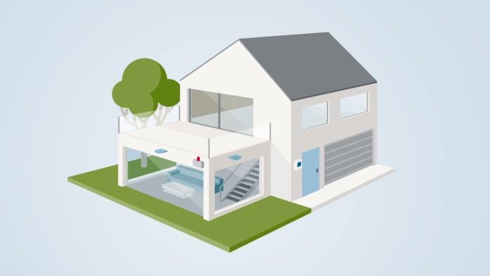 Einfamilienhaus mit Vorkehrungen zum Einbruchschutz