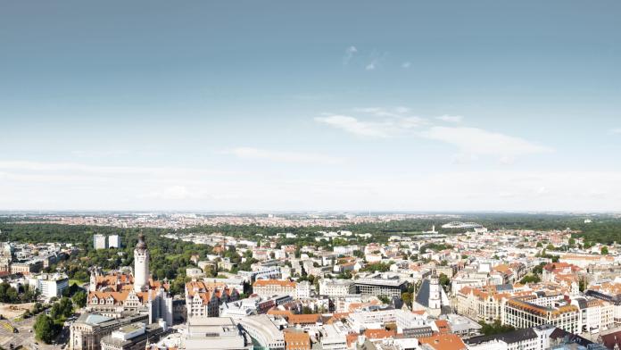 Panorama einer deutschen Stadt