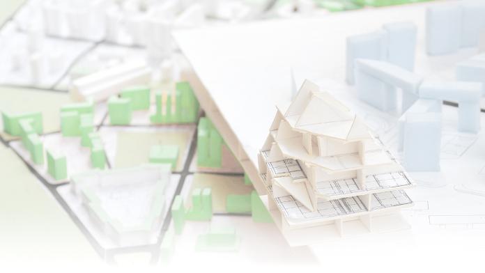 Modell einer Wohnsiedlung