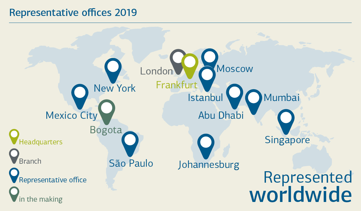 Representative offices of KfW IPEX-Bank