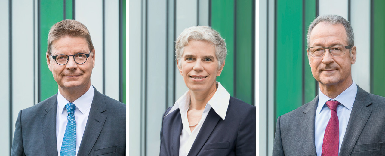 Porträts Andreas Ufer, Claudia Schneider, Markus Scheer