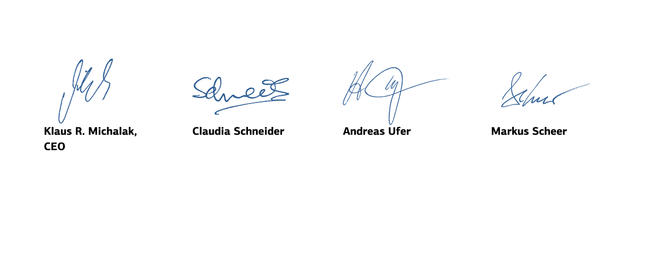 Signatures of the Management Board