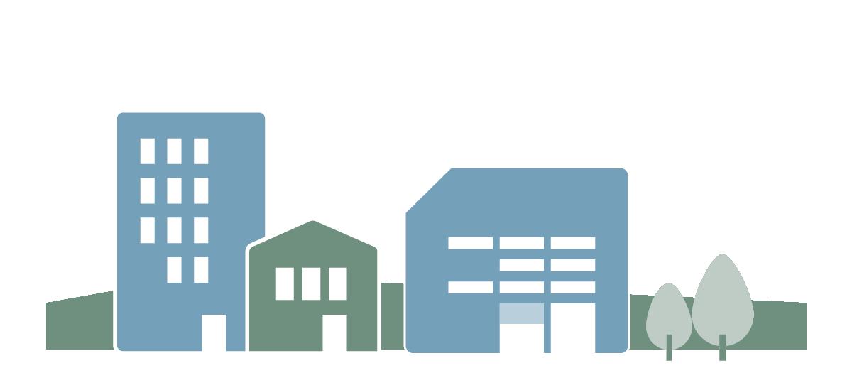 Grafische Darstellung von Wohngebäuden