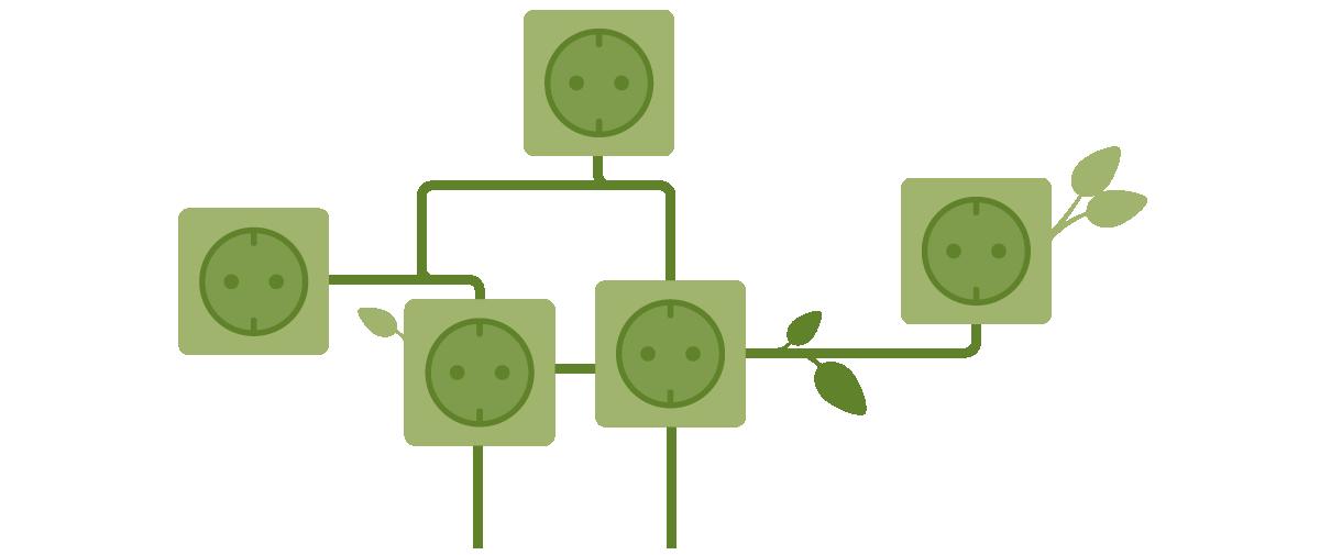 Grafische Darstellung grüner Energie