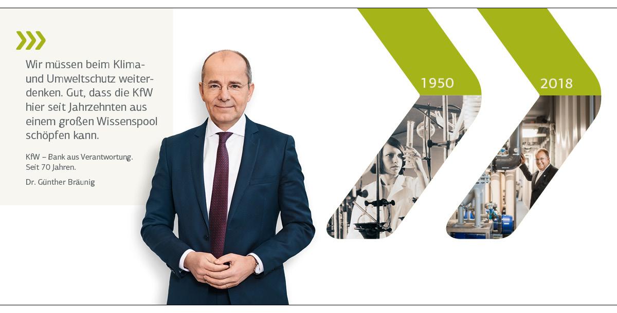 Vorstandsporträt Dr. Bäunig; historisches Motiv 1950: Laborantin; aktuelles Motiv 2018: Wasseraufbereitungsanlage in La Guarija/Kolumbien