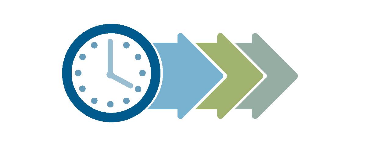 Grafische Darstellung Uhr mit Pfeilen