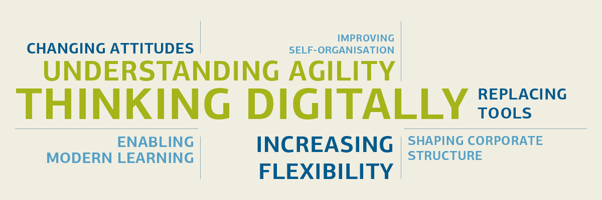 Graphic understanding agility and thinking digitally