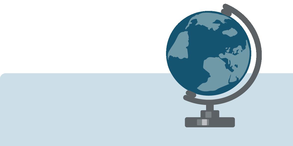 Grafische Darstellung Globus zum Thema Globaldarlehensvolumen