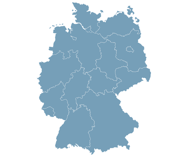 Image map of germany