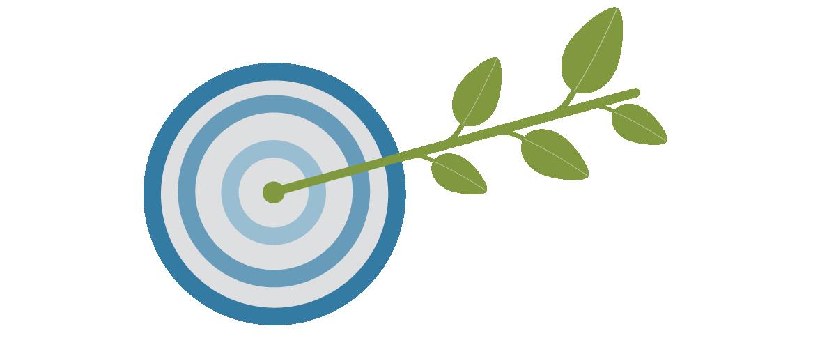 Grafische Darstellung Zielscheibe
