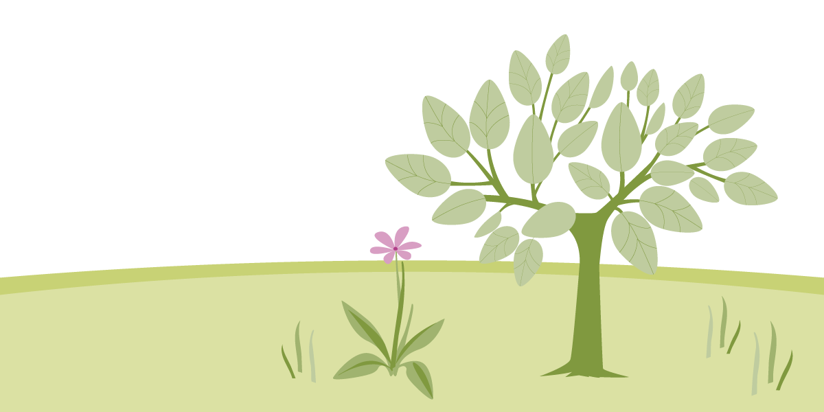 Grafische Darstellung Baum zum Thema Umweltförderung