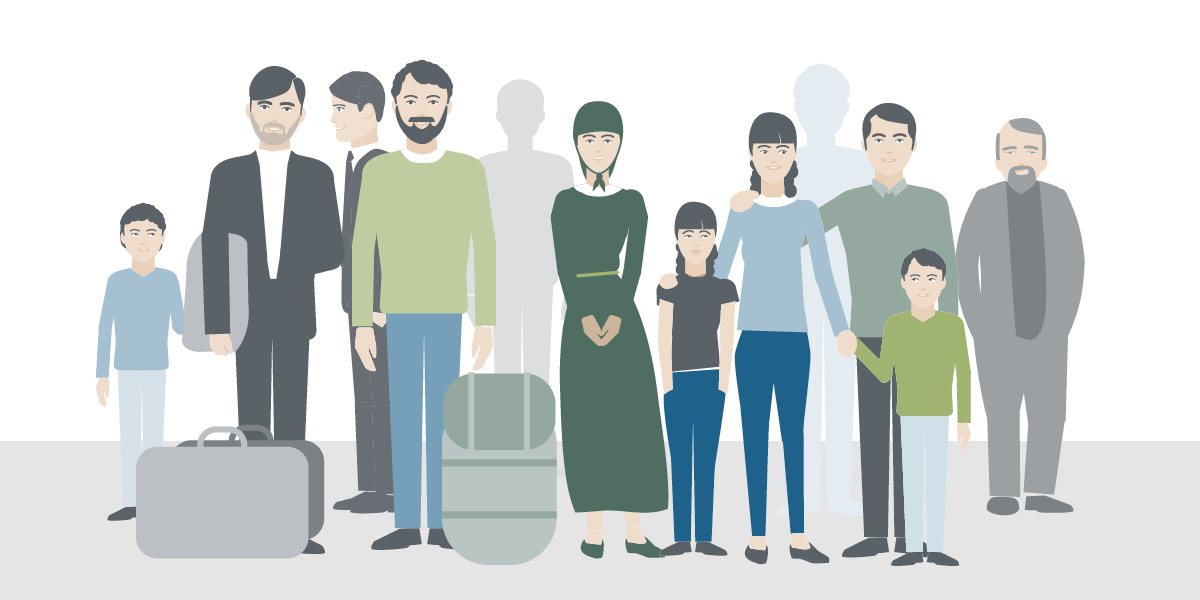 Grafische Darstellung Flüchtlingsgruppe