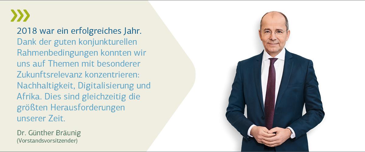 Vorstandsporträt Dr. Bäunig mit Zitat