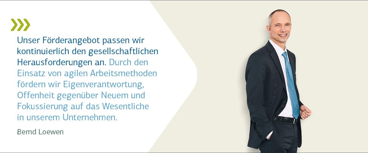 Vorstandsporträt Bernd Loewen mit Zitat