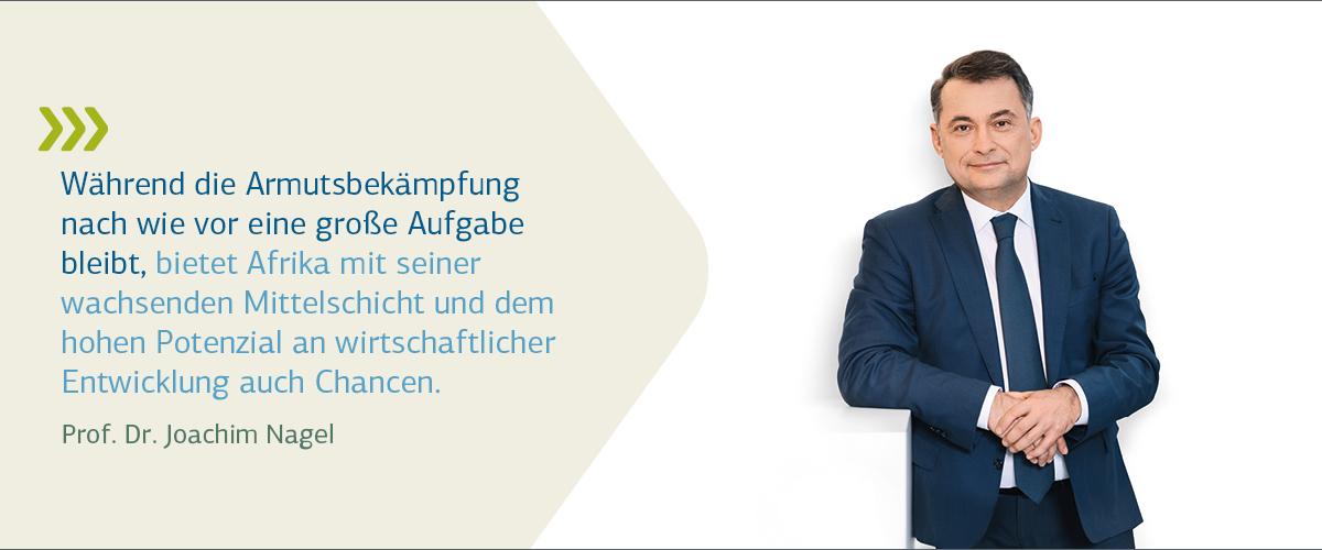 Vorstandsporträt Prof. Dr. Nagel mit Zitat