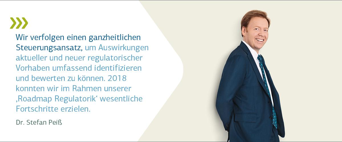 Vorstandsporträt Dr. Peiß mit Zitat