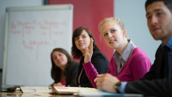 Auszubildende in einem Seminar, im Juni 2012, Deutschland