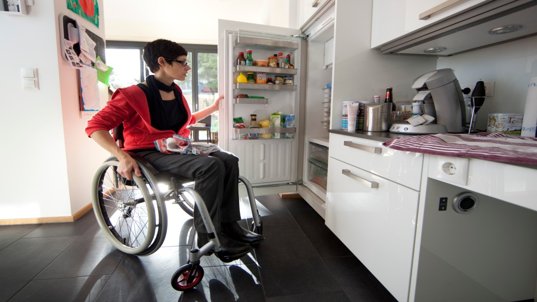 Overcoming obstacles: structural adjustments enable elderly and disabled people to live independently.